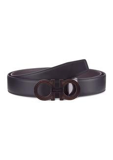 Ferragamo Classic Signature Leather Belt