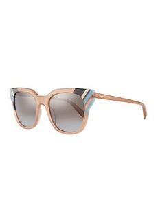 Ferragamo Colorblock Square Sunglasses