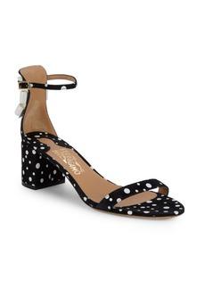 Ferragamo Connie Block Heel Suede Sandals