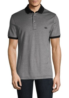 Ferragamo Contrast Logo Cotton Polo