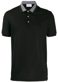 Ferragamo contrasting collar polo shirt