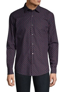 Ferragamo Cool Allover Gancini Cotton Shirt
