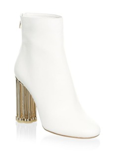 Ferragamo Coriano Leather Birdcage Heel Booties