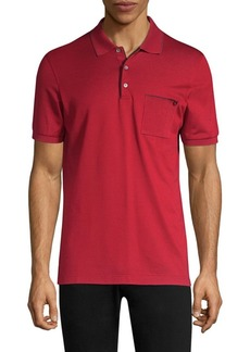 Ferragamo Cotton Pique Contrast Polo Shirt