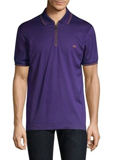 Ferragamo Cotton Pique Polo Shirt
