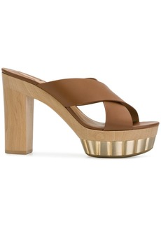 Ferragamo crossover strap platform sandals