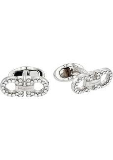 Ferragamo Crystal Double Gancini Cuff Links