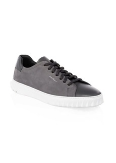 Ferragamo Cube Leather Low-Top Sneakers
