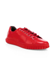 Ferragamo Gancini Leather Sneakers