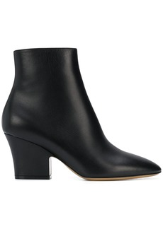 Ferragamo curved heel 75m ankle boots