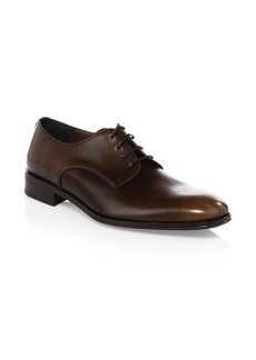 Ferragamo Daniel Lace-Up Leather Derby Shoes