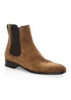 Ferragamo Darien Original Castoro Suede Ankle Boots