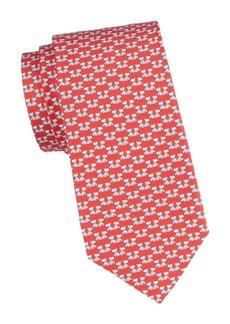 Ferragamo Dog-Print Silk Tie