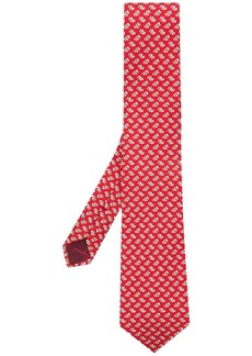 Ferragamo dog print tie