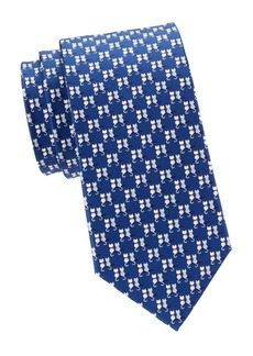 Ferragamo Double Cats Silk Tie