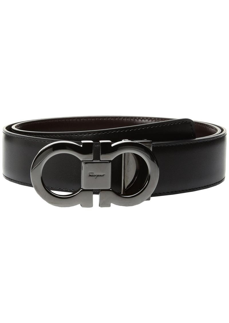 Ferragamo Double Gancini Adjustable and Reversible Belt - 679535