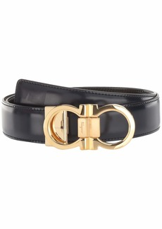 Ferragamo Double Gancio Buckle Adjustable/Reversible Belt (678648)