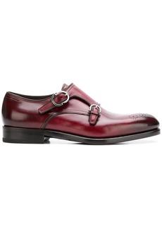 Ferragamo double monk strap shoes