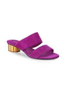 Ferragamo Double-Strap Suede Sandals