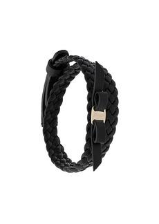 Ferragamo double-wrap Vara Bow bracelet