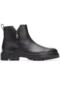 Ferragamo double zip boots