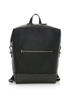 Ferragamo Dynamo Gancini Leather Backpack