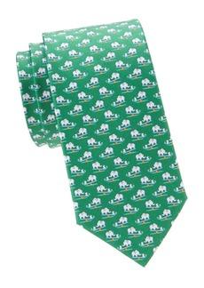 Ferragamo Elephant Mouse Silk Tie