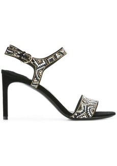 Ferragamo Ella mosaic beaded sandals