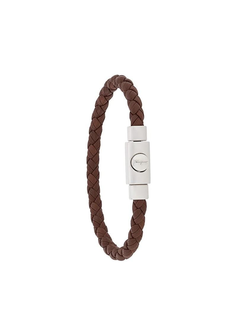 Ferragamo embossed logo woven bracelet