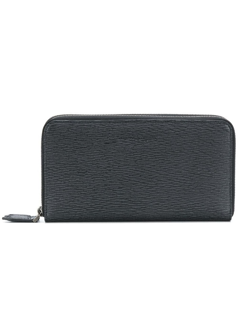 Ferragamo embossed zip around wallet