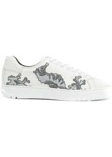 Ferragamo embroidered lace-up sneakers
