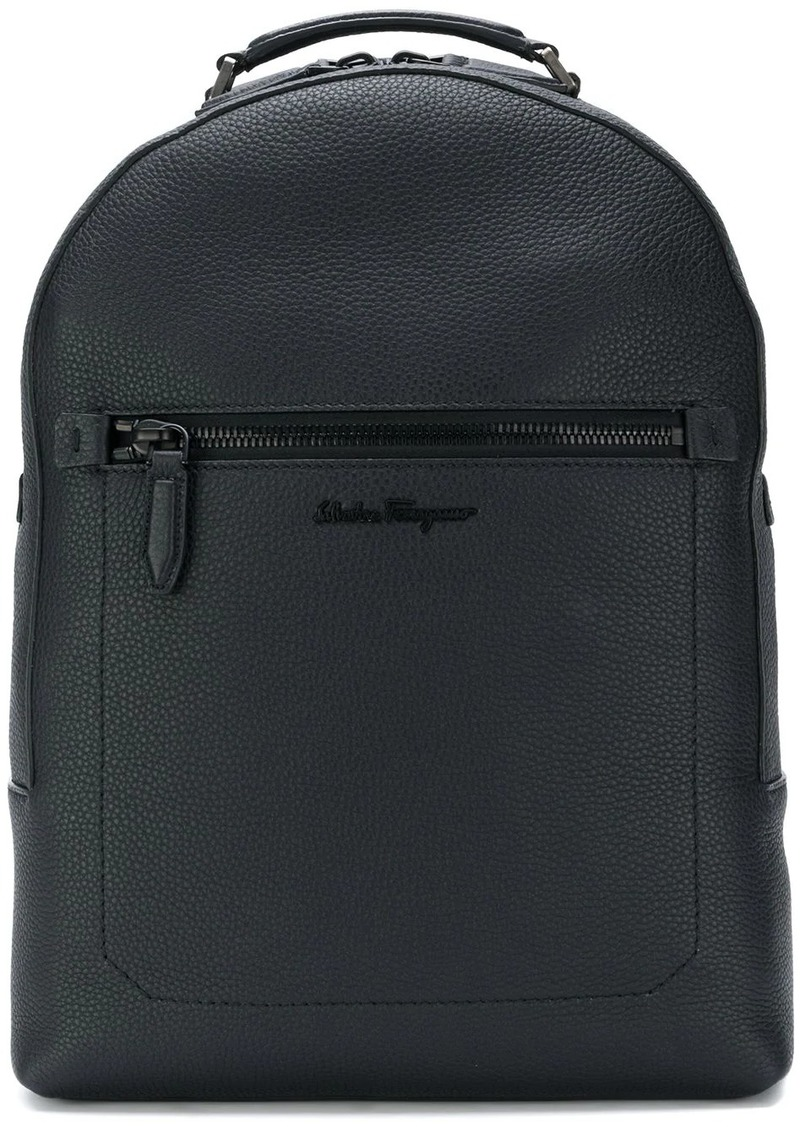 Ferragamo embroidered logo backpack