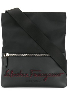 Ferragamo embroidered logo messenger bag