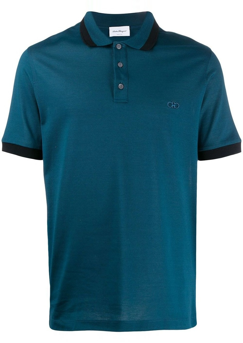 Ferragamo embroidered logo polo shirt