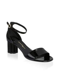Ferragamo Eraclea Patent Leather Ankle-Strap Sandals