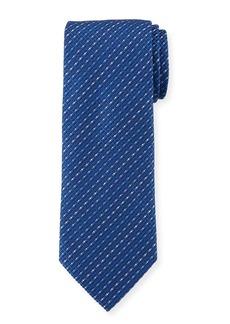 Ferragamo Este Stripe Silk Tie
