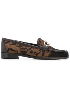 Ferragamo faded leopard loafers