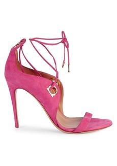 Ferragamo Fandila Lace-Up Suede Sandals
