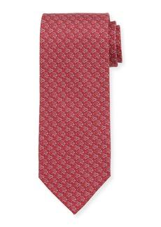 Ferragamo Fast Turtle-Print Silk Tie