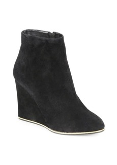 Ferragamo Fiamma Suede Wedge Ankle Boots