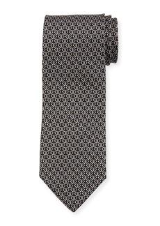 Ferragamo Fiocco Gancini Printed Silk Tie