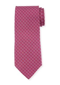 Ferragamo Fiocco Gancini Printed Silk Tie  Pink