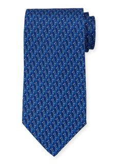 Ferragamo Fiona Giraffe Silk Tie