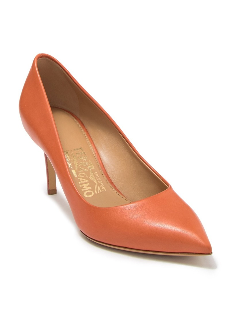 Ferragamo Fiore Pointed Toe Leather Pump