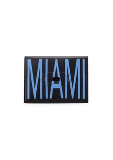 Ferragamo Firenze Logo Miami Leather Passport Holder