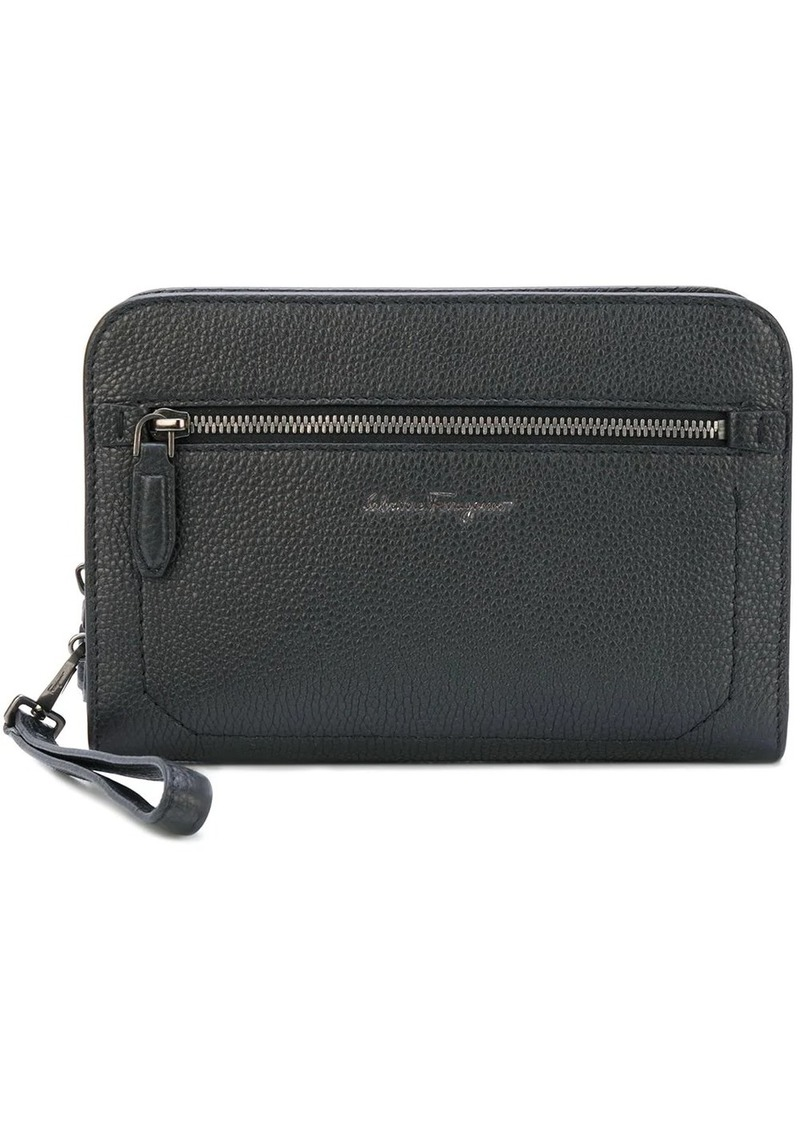 Ferragamo Firenze zipped leather pouch