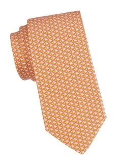 Ferragamo Fish-Print Silk Tie