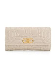 Ferragamo flap logo wallet