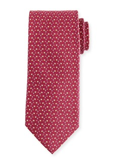 Ferragamo Flash Desk Lamp Silk Tie  Red