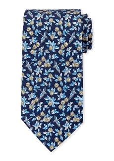 Ferragamo Floral Pattern Silk Tie